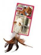 """KONG Игрушка для кошек """"Мышь-полевка"""" с перьями (15 см)"""