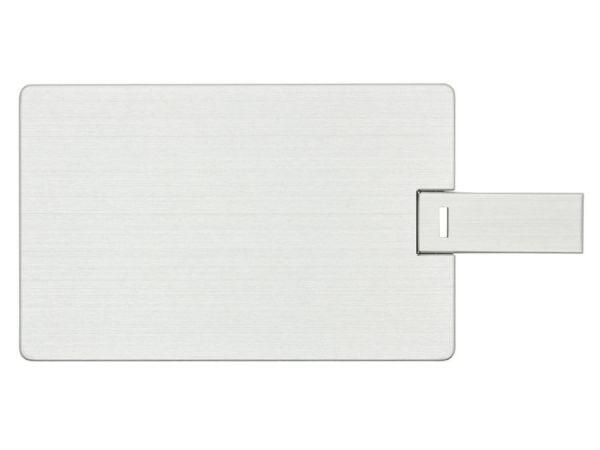 8GB USB-флэш накопитель Apexto U504EM алюминиевая кредитная карта, серебряная