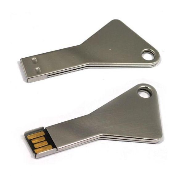 4GB USB-флэш накопитель Apexto UK-004 металлический ключ, серебряный