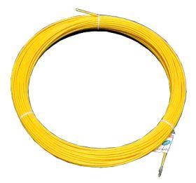 Протяжка кабельная (мини УЗК в бухте), 3м, стеклопруток, d=3мм, латунный наконечник, заглушка.