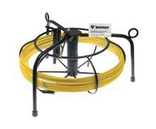 Протяжка кабельная (мини УЗК в металлической касете), 15м, стеклопруток, d=3мм, латунный наконечник, заглушка.