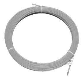 Протяжка кабельная (мини УЗК в бухте), 3м, нейлон, d=4мм, латунный наконечник, заглушка.
