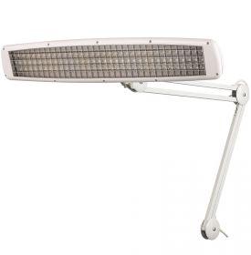 Белая люминесцентная из металла лампа Rexant на струбцине настольная 3х14Вт