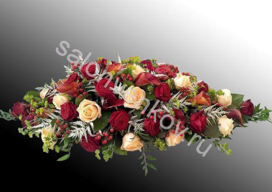 Траурная композиция из живых цветов N58