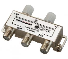 ДЕЛИТЕЛЬ ТВ х 4 под F разъём 5-1000 МГц PROCONNECT