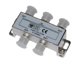 ДЕЛИТЕЛЬ ТВ х 4 под F разъём 5-1000 МГц REXANT