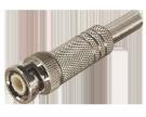 РАЗЪЁМ штекер BNC под винт с пружиной металл (HF-003) PROCONNECT