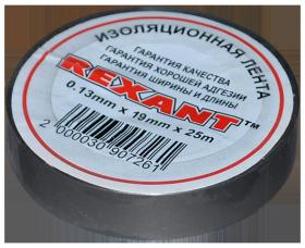 Изолента 19мм х 25м серая REXANT