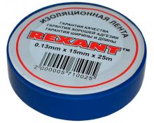 Изолента 15мм х 25м синяя REXANT