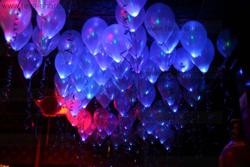 """Светящиеся шар 14""""-34см со светодиодом"""