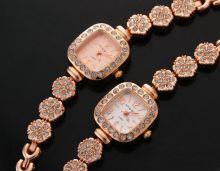 Женские кварцевые часы со стразами