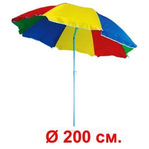 Зонт «Арбуз» с регулируемым наклоном (диаметр 200 см.)