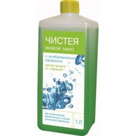 Чистея / дезинфицирующее жидкое мыло / 1 л