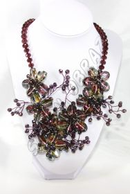 "Колье ""Хрустальные цветы"" К-082"