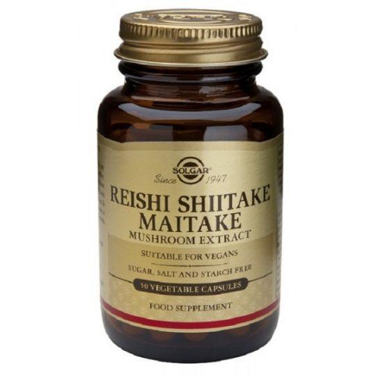 Солгар Экстракт грибов Рейши Шиитаке и Мейтаке капс. 505 мг №50