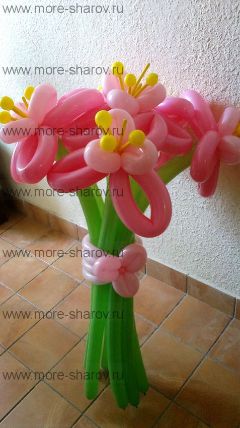 Букет лилий 7 цветков