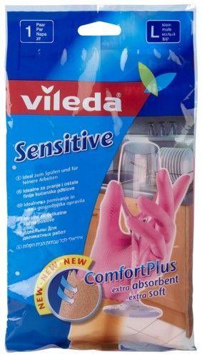 """Vileda Перчатки """"Sensitive"""" для деликатных работ, размер L, 1 пара"""