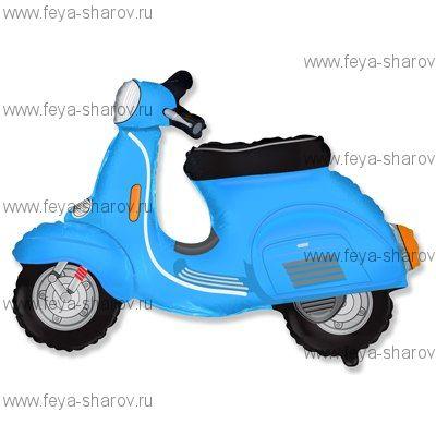 Шар фольгированный Скутер голубой 81 см