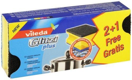 "Vileda Губка ""Glitzi Plus"" для кастрюль, 2 шт. + 1 шт."