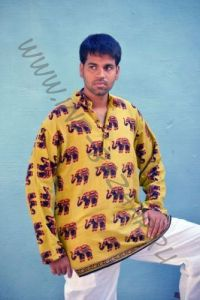 Индийские мужские рубашки со слонами