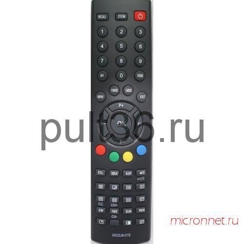 Пульт ДУ Trony GK23J6-C15 (NOVEX TVD-23 для NL-2691, HYUNDAI H-LCD3200 , AKAI пульт для телевизора)
