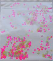 Звезды, кружочки - микс (розовые, бледно-голубые, бледно-желтые) (2мм, 3 мм)