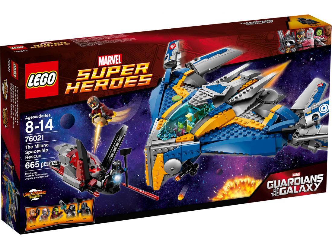 76021 Лего Стражи Галактики: Спасение на Космическом Корабле Милано Конструктор ЛЕГО Супергерои