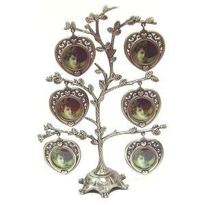 Рамка для фото в виде дерева (6 фото,  серебро)