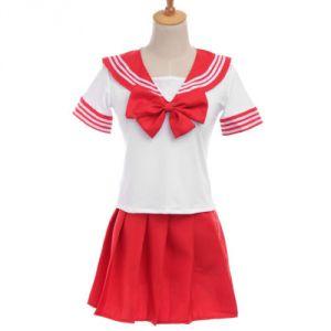 """Японская школьная форма """"Sailor Fuku"""" красная"""