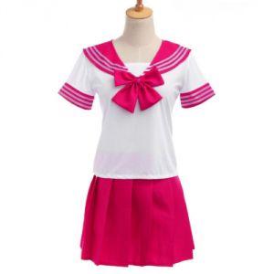 """Японская школьная форма """"Sailor Fuku"""" ярко-розовая"""