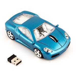 """Мышь беспроводная """"Машинка синяя"""""""