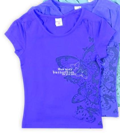 Блуза синего цвета для девочки Бабочки