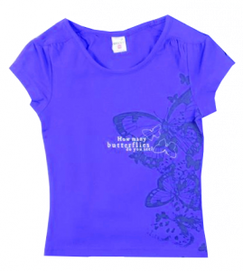 синяя блузка для девочки