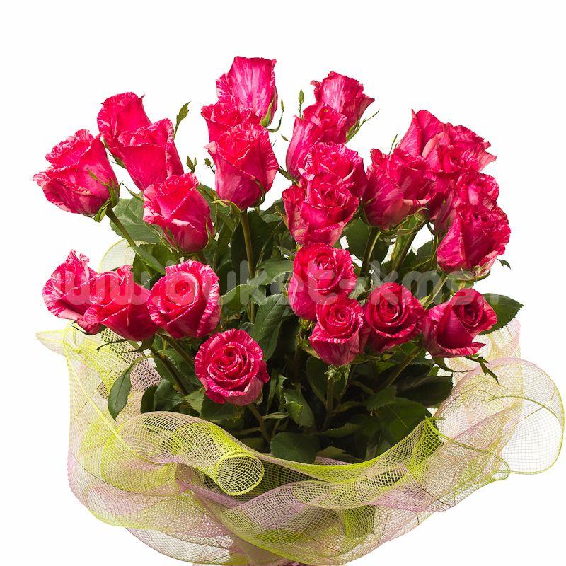 """Букет из 25 роз """"Пинк Интуишн"""" c доставкой в Комсомольске"""