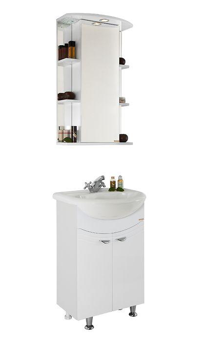 Комплект мебели для ванной Vod-ok Эльба 60 белый/дуб/венге