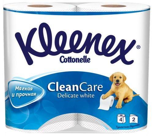 """KLEENEX Туалетная бумага """"Delicate White"""" двухслойная, 4 шт"""