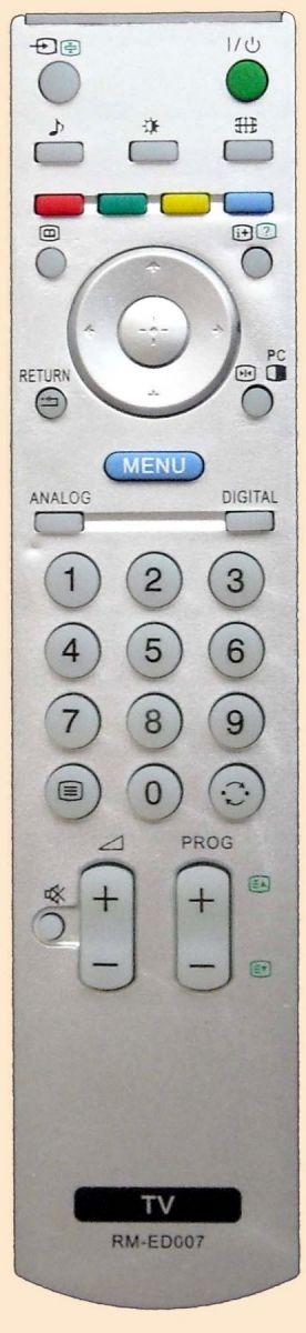 Пульт для Sony RM-ED007 (LCD) (KDF-50E2000, KDF-50E2010, KDL-26P2530, KDL-26U2000,  KDL-32P253,  KDL-32U2000, KDL-40P2530K, KDL-40U2000, KDL-40U2530)