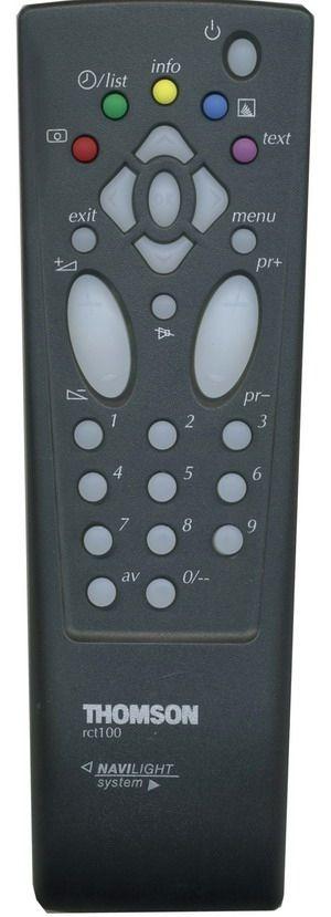 Пульт для Thomson RCT100 (TV с t/t) (32WN22E, 33MS21E, AQUA14G, AQUA14G3, AQUA14W3, AQUA14WP, AQUA14Y, BLUE3, HTM20117, HTM21117, NATURE1, ORANGE3, S2014, S2014B, S2014BC, S2014BU, S2014C, S2014G, S2014GC, S2014U)