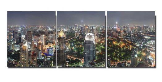 Модульная картина Ночной город