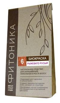 Биокраска Фитоника №6 «Рыжевато-русый», 30 гр.