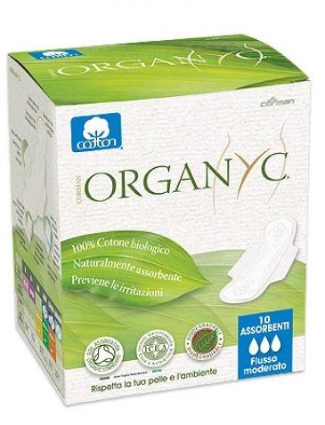 Organyc Прокладки с крылышками Нормал, ультратонкие, 10 шт., 3 капли