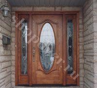 Металлические двери  парадные из массива дуба