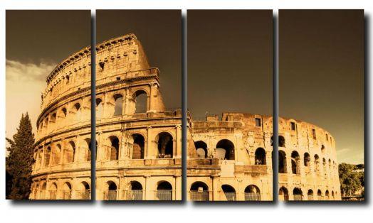 Модульная картина Город. Рим. Колизей