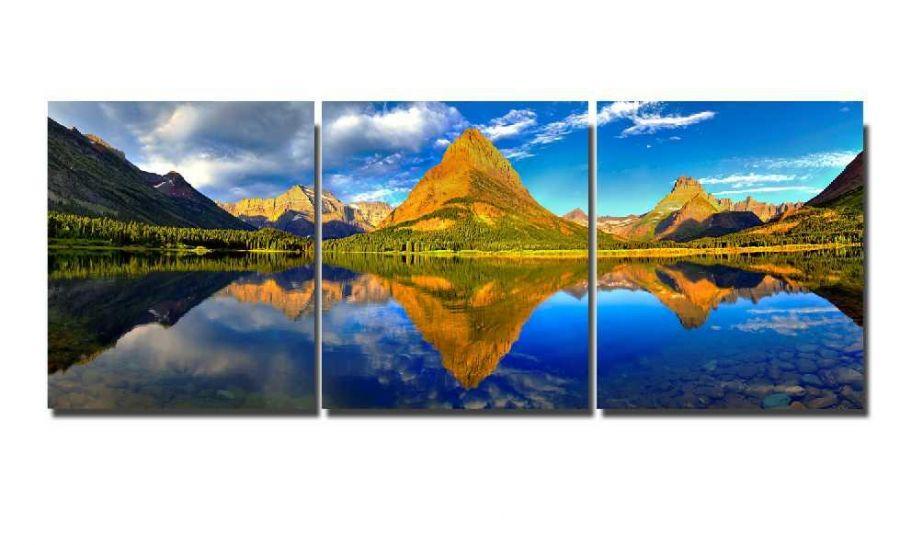 Модульная картина Горы и озеро