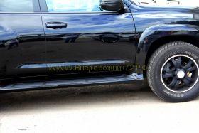 Аэродинамические пороги (Тип 2) для Toyota Land Cruiser Prado 150