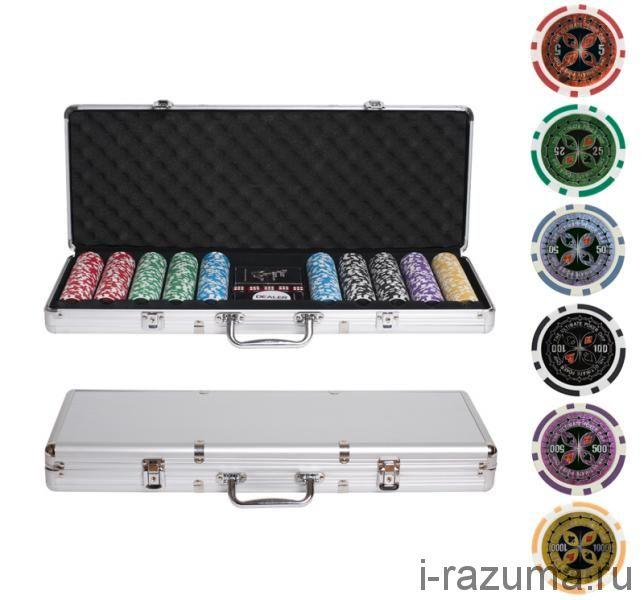 Покерный набор на 500 фишек «Ultimate» (фишка 14 гр./алюминиевый кейс)