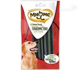 """""""Мнямс"""" - зубные палочки для собак 8 см зеленые 3 шт. в блистере."""
