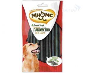 """""""Мнямс"""" - зубные палочки для собак, 12 см, зеленая, 7 шт. в блистере."""