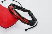 Плетеный кожаный браслет Охлобыстин