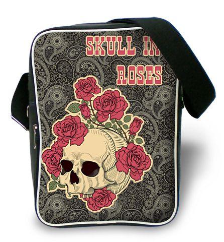 "Молодежная сумка ""ПодЪполье"" Skull in roses"